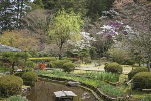 石山寺の敷地内にある庭園